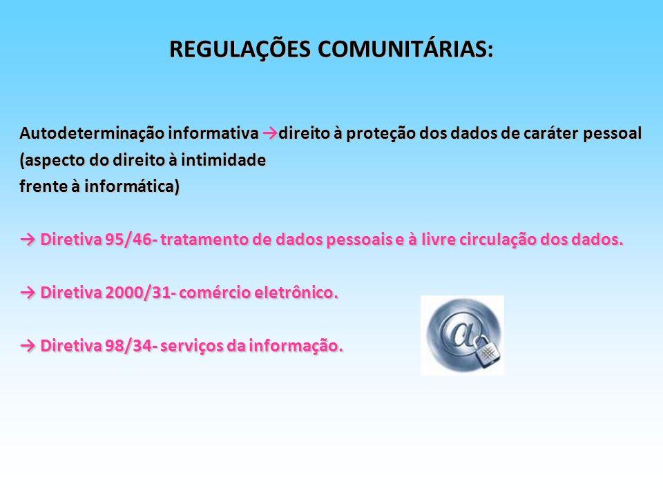 REGULAÇÕES COMUNITÁRIAS: