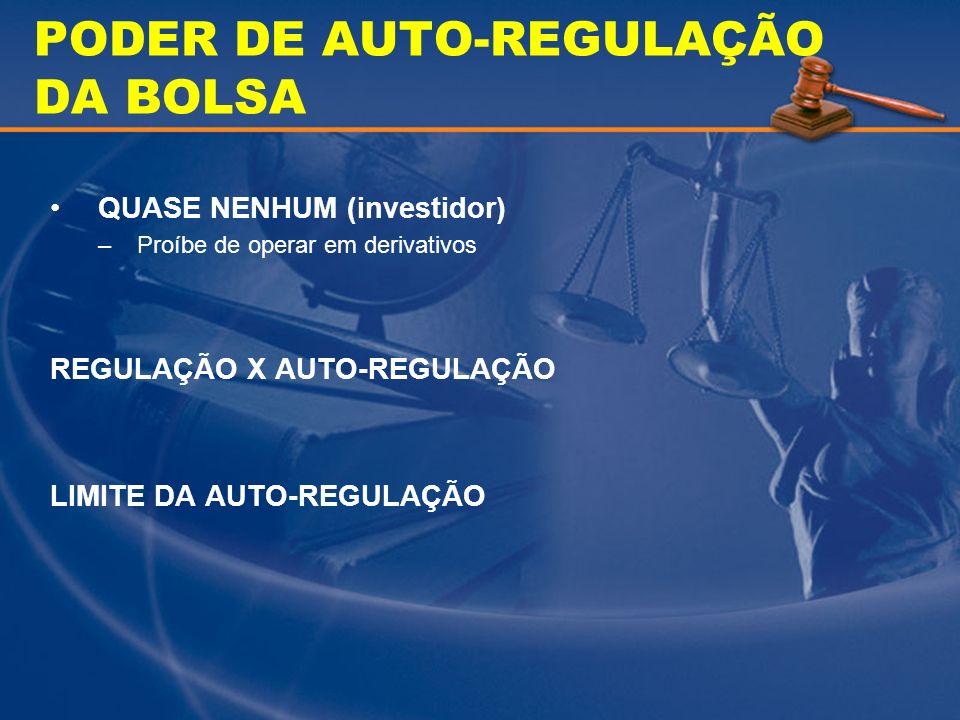 PODER DE AUTO-REGULAÇÃO DA BOLSA