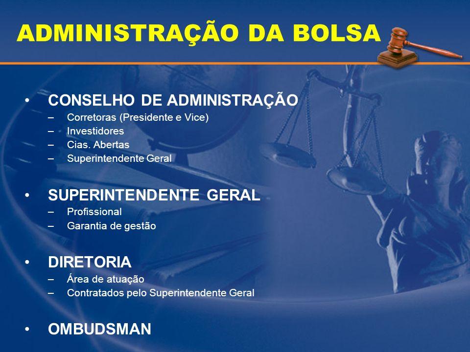 ADMINISTRAÇÃO DA BOLSA