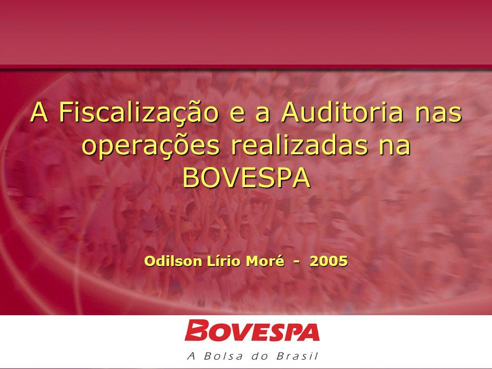 A Fiscalização e a Auditoria nas operações realizadas na BOVESPA