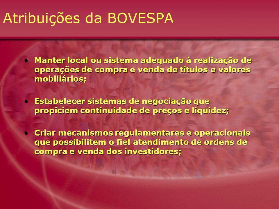 Atribuições da BOVESPA