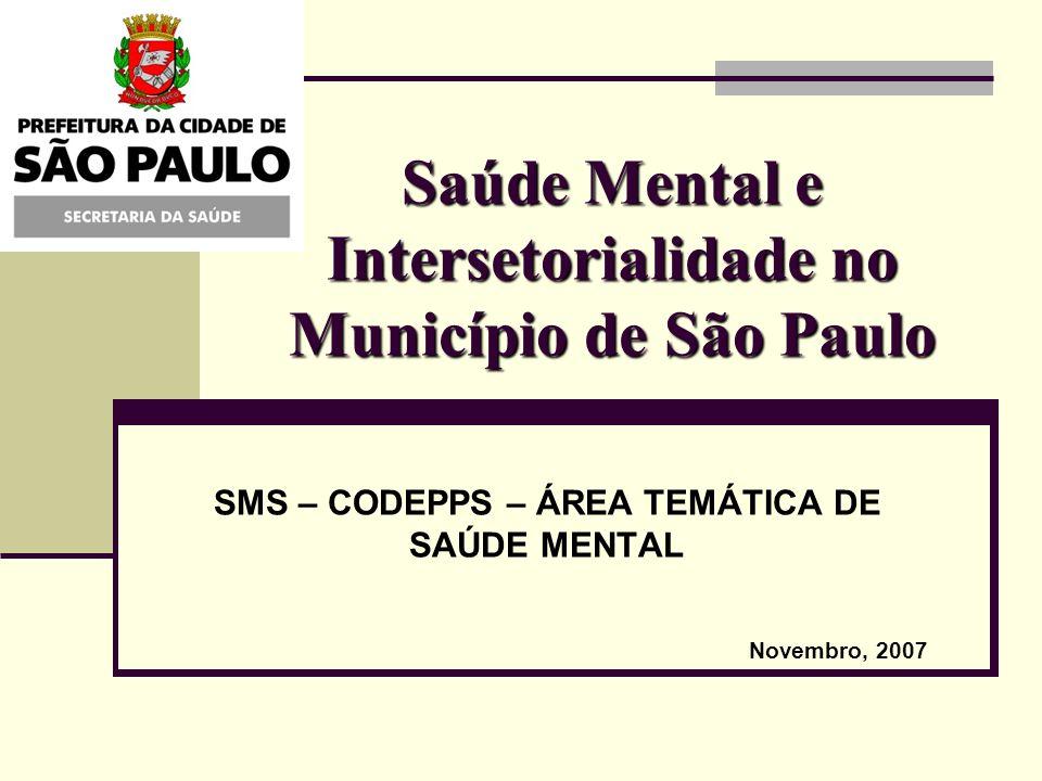Saúde Mental e Intersetorialidade no Município de São Paulo