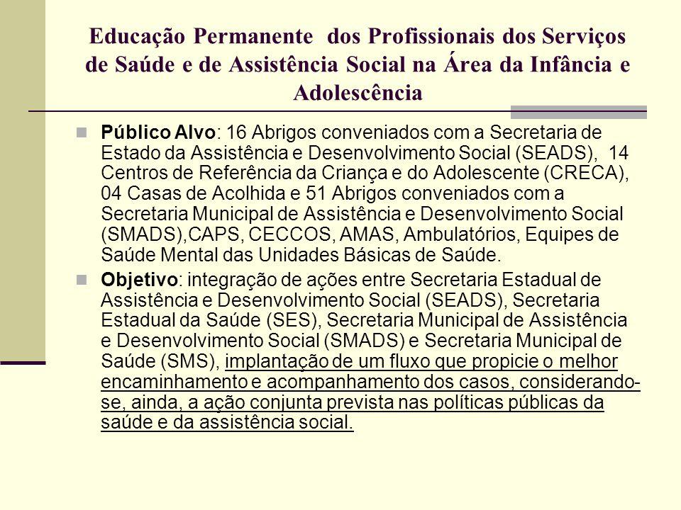 Educação Permanente dos Profissionais dos Serviços de Saúde e de Assistência Social na Área da Infância e Adolescência