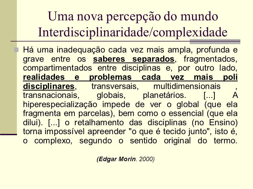 Uma nova percepção do mundo Interdisciplinaridade/complexidade