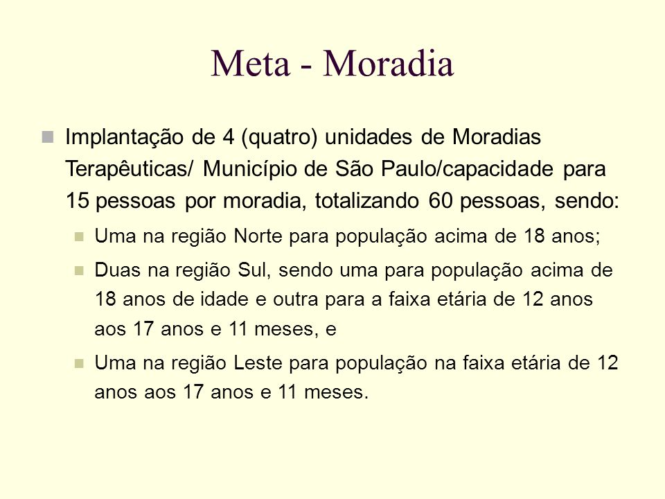 Meta - Moradia