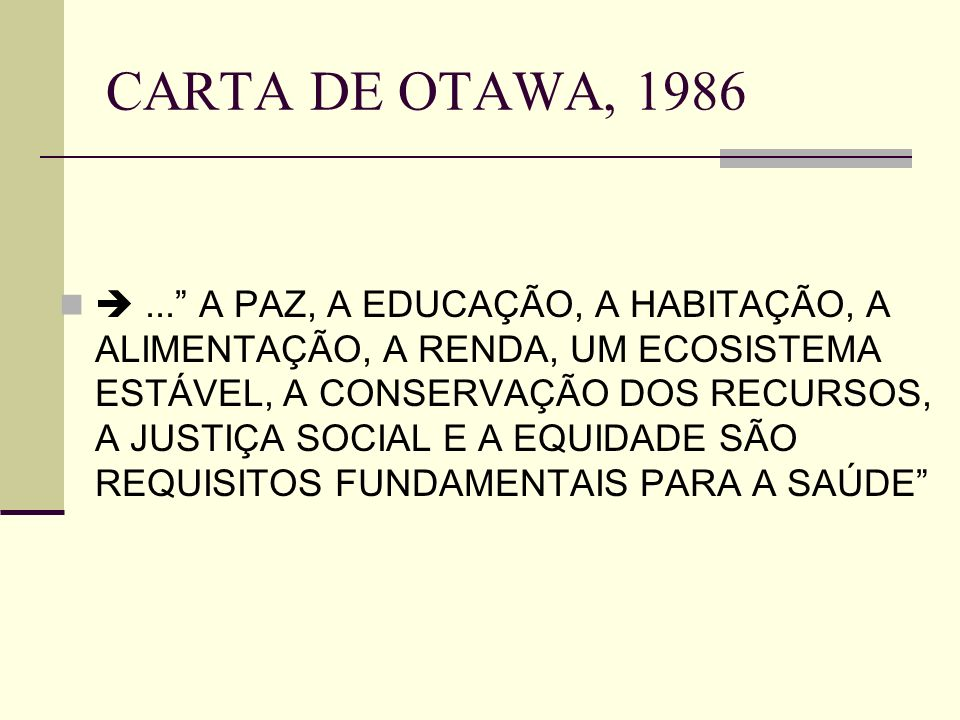 CARTA DE OTAWA, 1986
