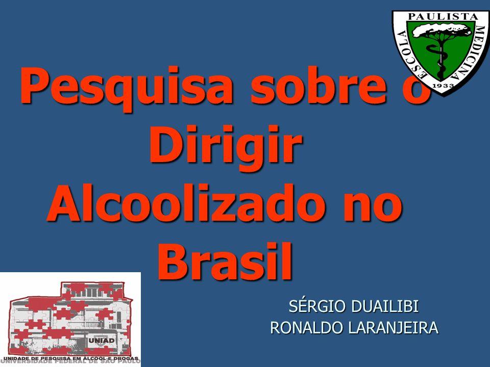 Pesquisa sobre o Dirigir Alcoolizado no Brasil