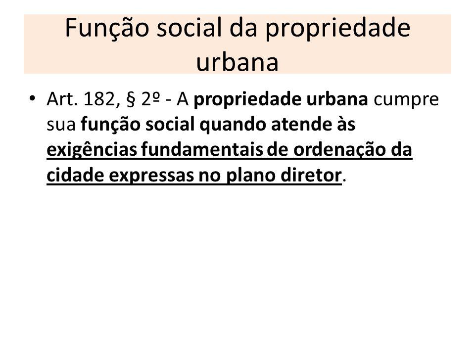 Função social da propriedade urbana