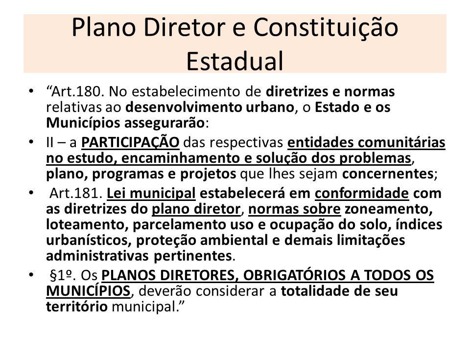 Plano Diretor e Constituição Estadual