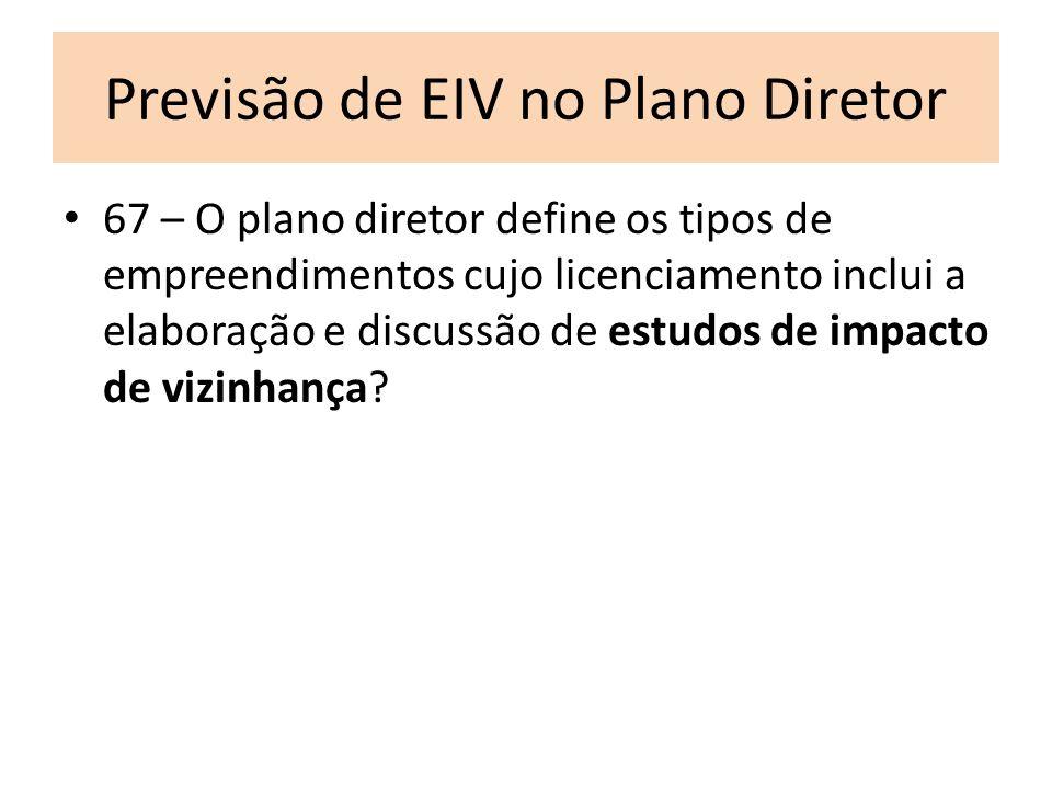 Previsão de EIV no Plano Diretor