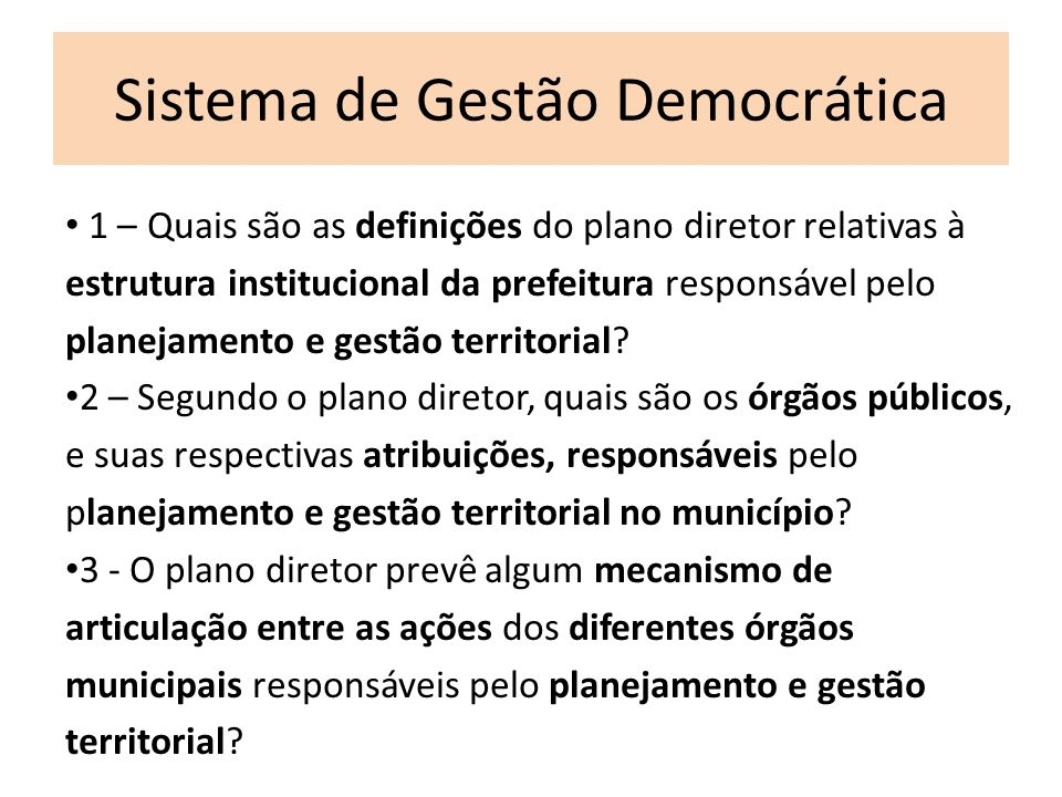 Sistema de Gestão Democrática