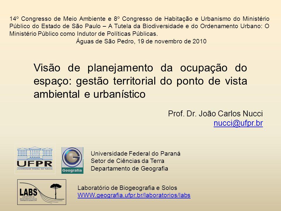 14º Congresso de Meio Ambiente e 8º Congresso de Habitação e Urbanismo do Ministério Público do Estado de São Paulo – A Tutela da Biodiversidade e do Ordenamento Urbano: O Ministério Público como Indutor de Políticas Públicas.