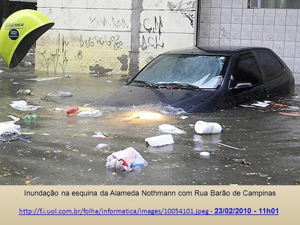 Inundação na esquina da Alameda Nothmann com Rua Barão de Campinas
