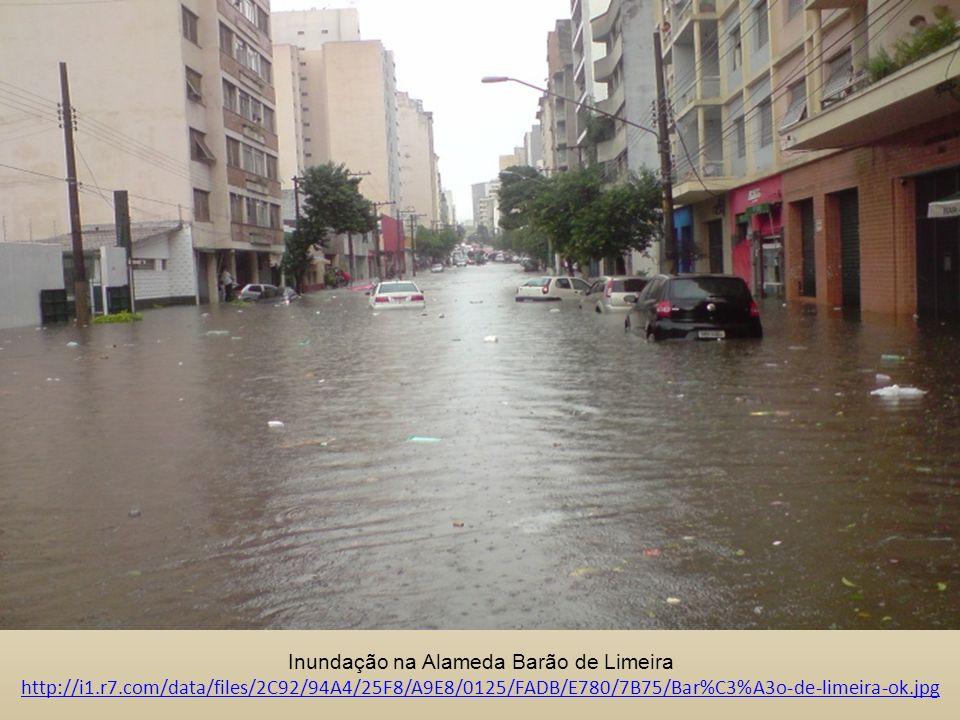 Inundação na Alameda Barão de Limeira