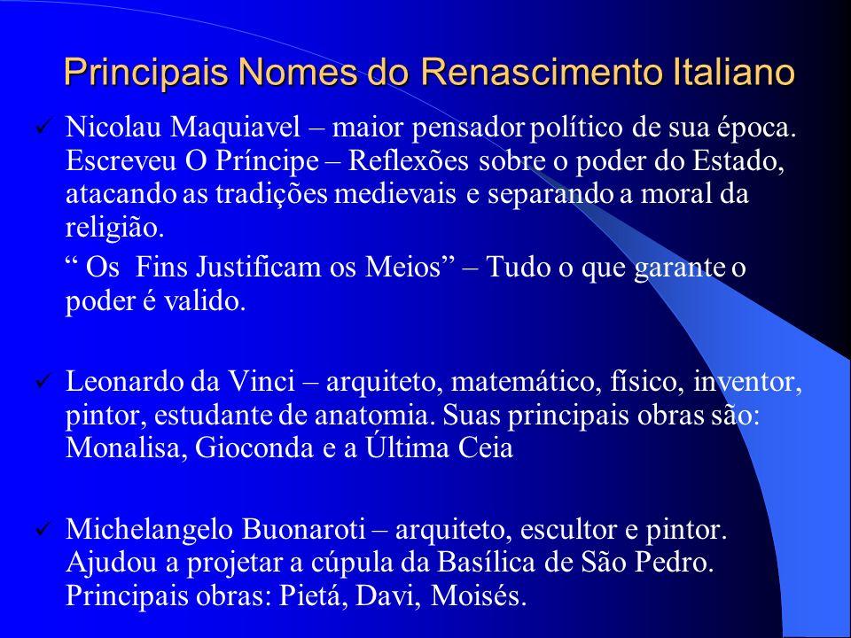 Principais Nomes do Renascimento Italiano