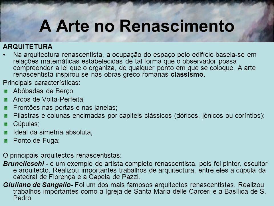 A Arte no Renascimento ARQUITETURA
