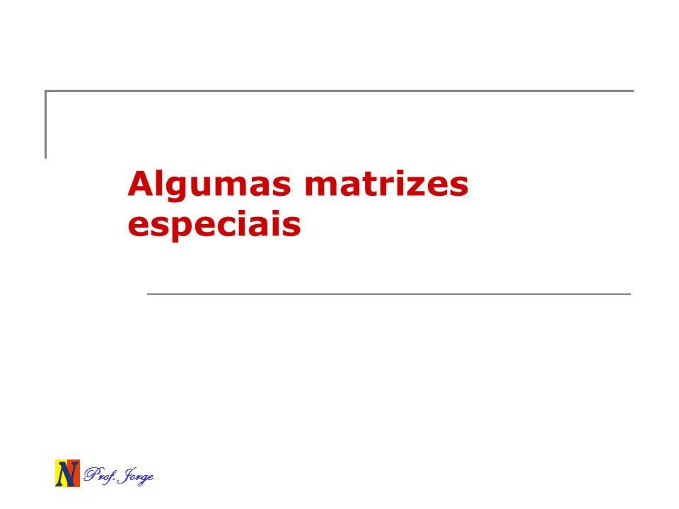Algumas matrizes especiais