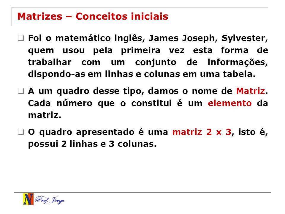 Matrizes – Conceitos iniciais