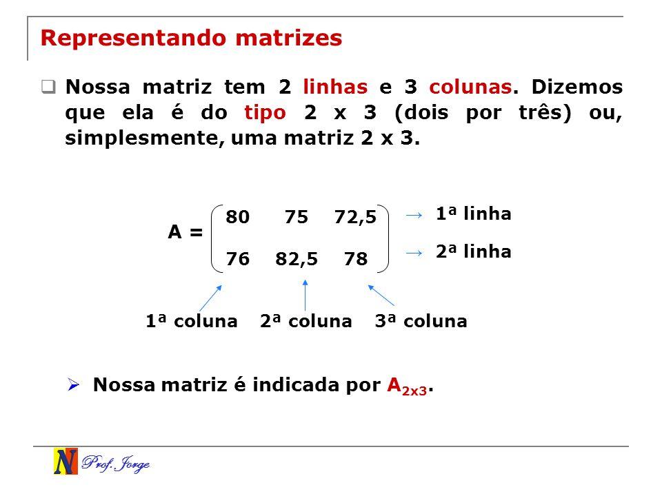 Representando matrizes