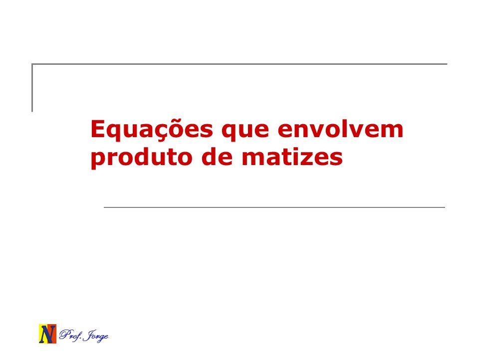Equações que envolvem produto de matizes