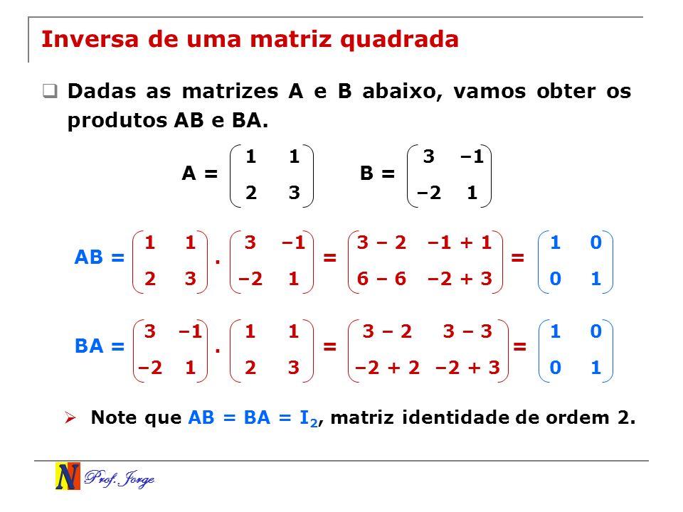 Inversa de uma matriz quadrada