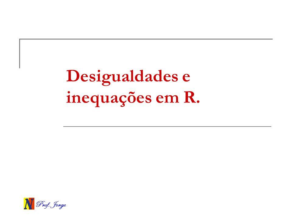 Desigualdades e inequações em R.