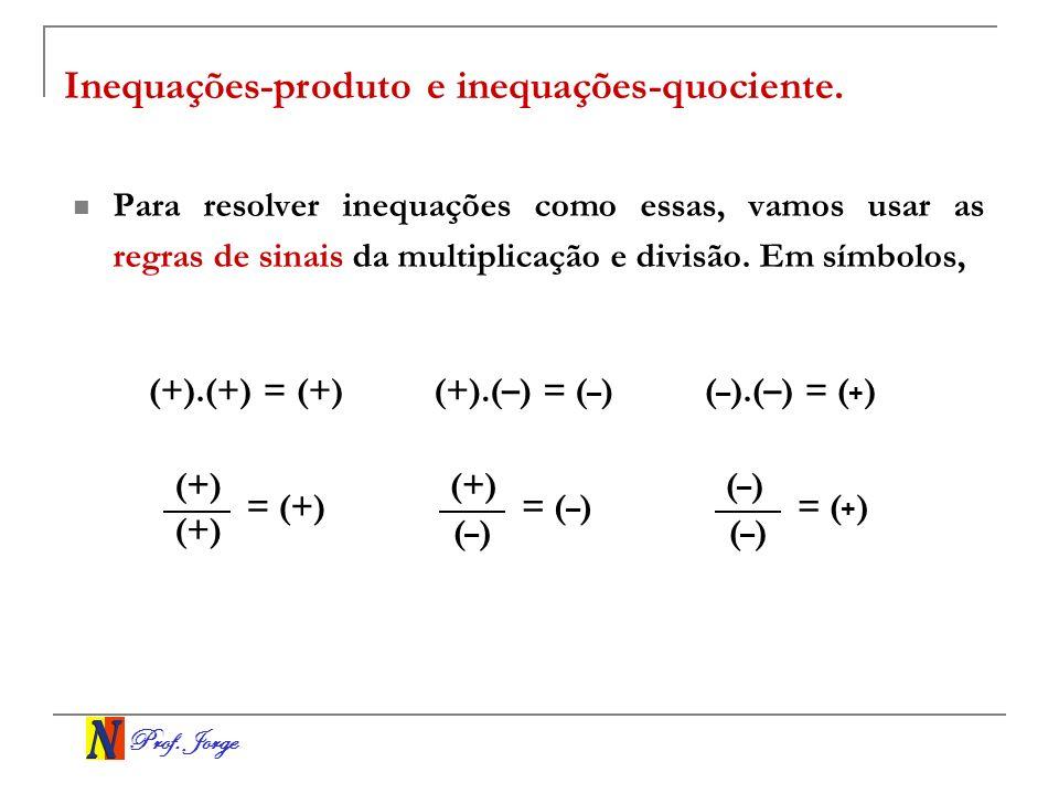 Inequações-produto e inequações-quociente.