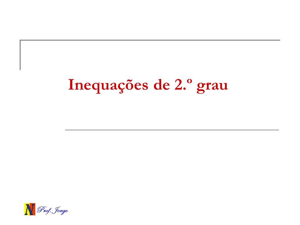 Inequações de 2.º grau
