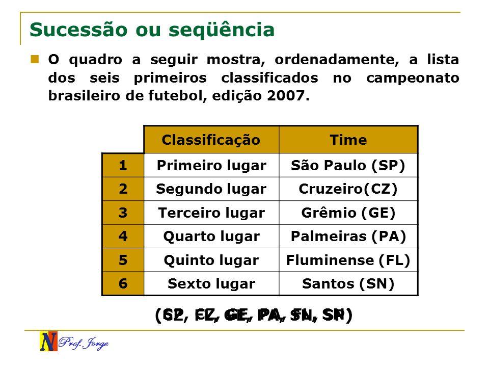 Sucessão ou seqüência (SP, CZ, GE, PA, FL, SN)