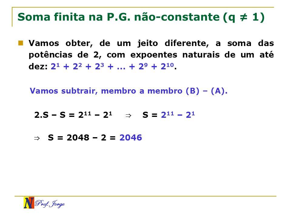 Soma finita na P.G. não-constante (q ≠ 1)