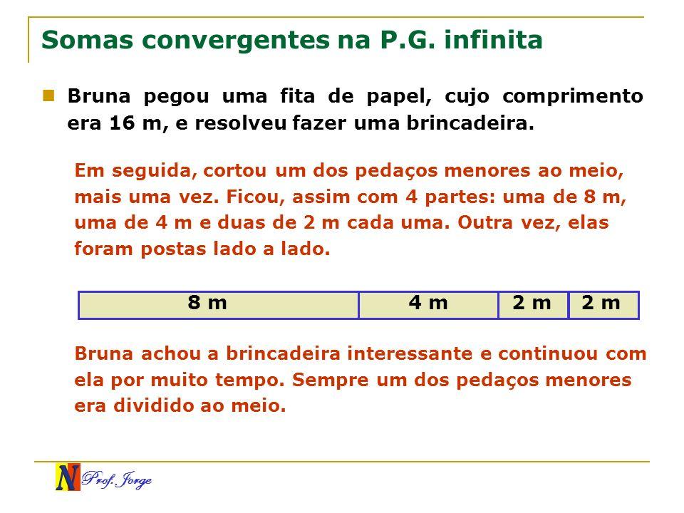 Somas convergentes na P.G. infinita
