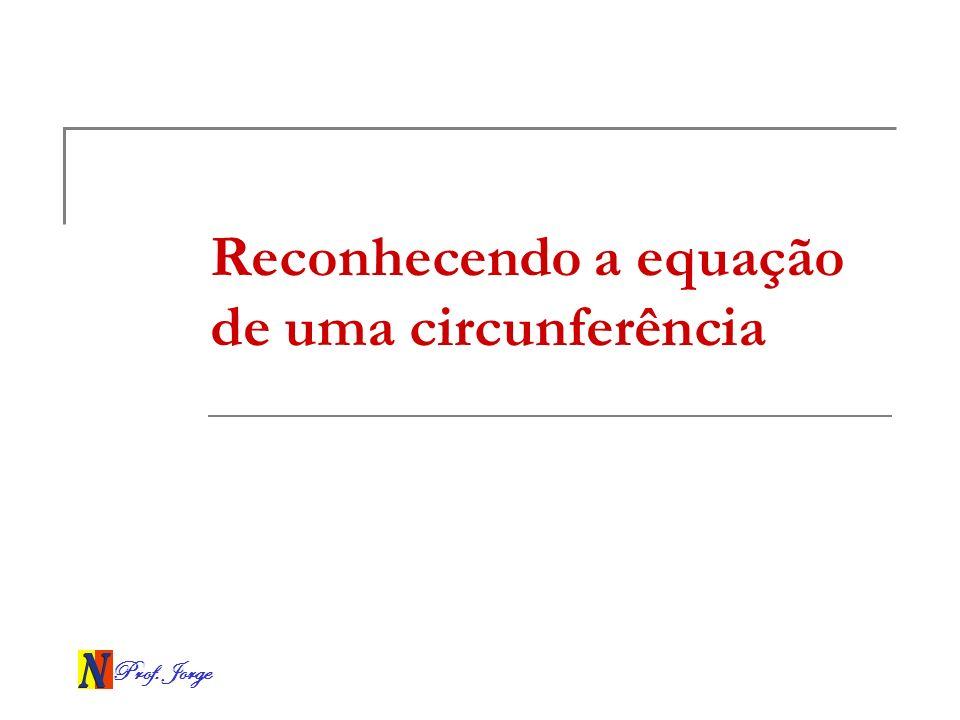 Reconhecendo a equação de uma circunferência