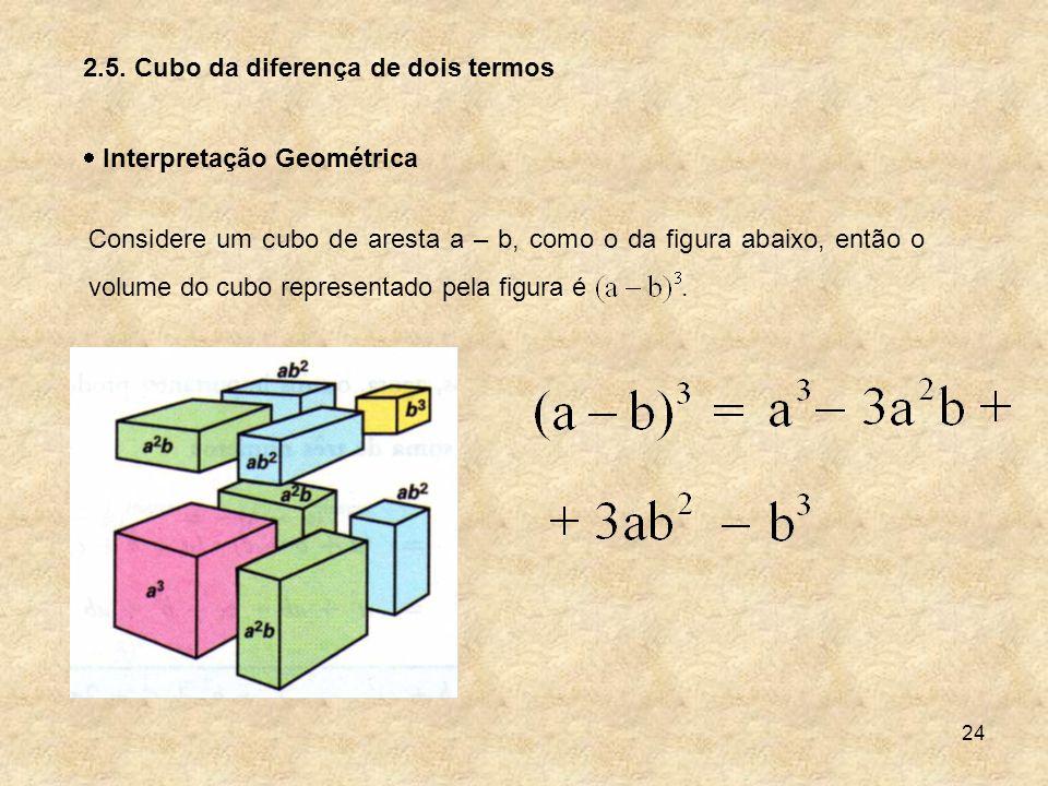 2.5. Cubo da diferença de dois termos