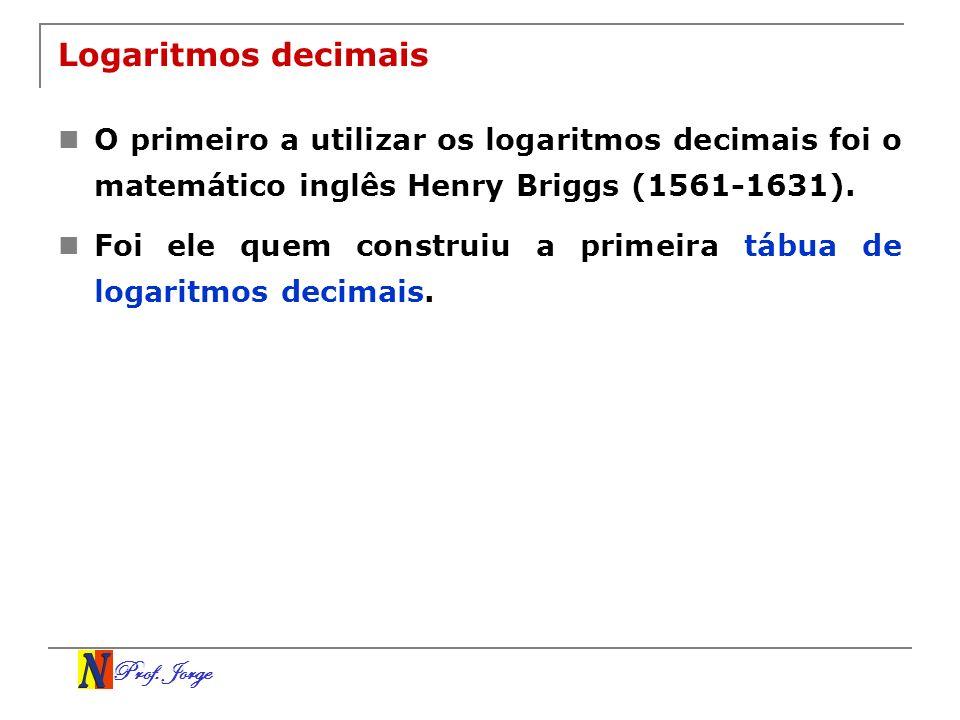 Logaritmos decimaisO primeiro a utilizar os logaritmos decimais foi o matemático inglês Henry Briggs (1561-1631).