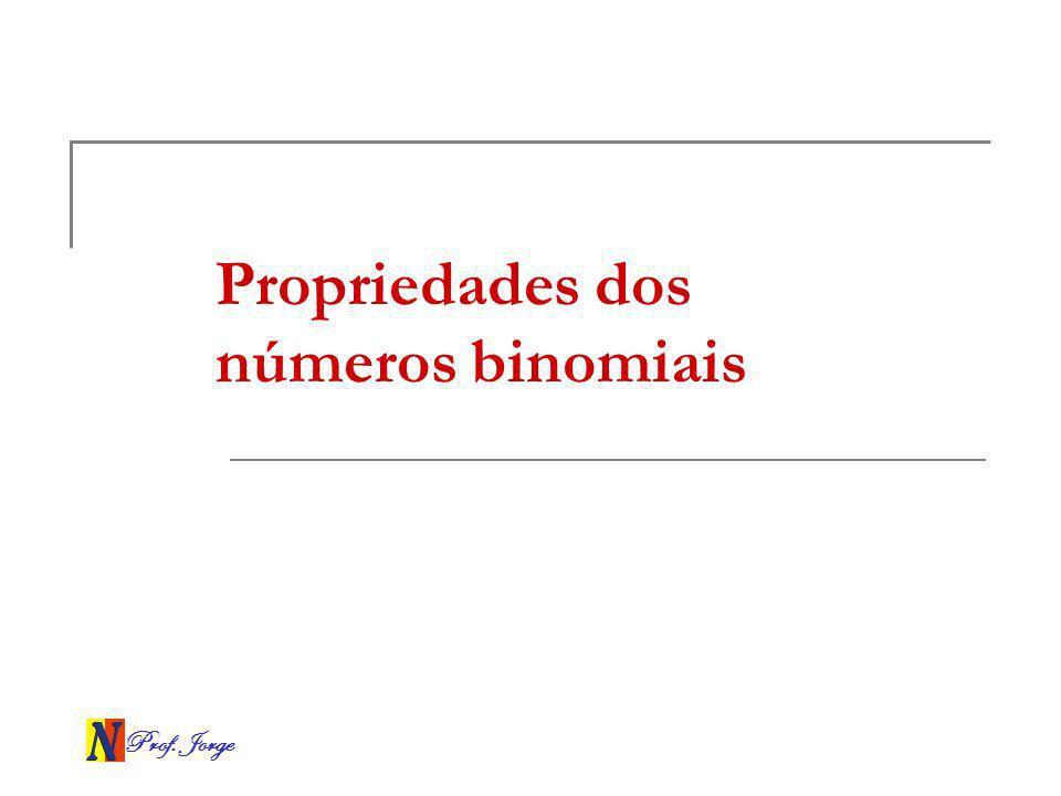 Propriedades dos números binomiais