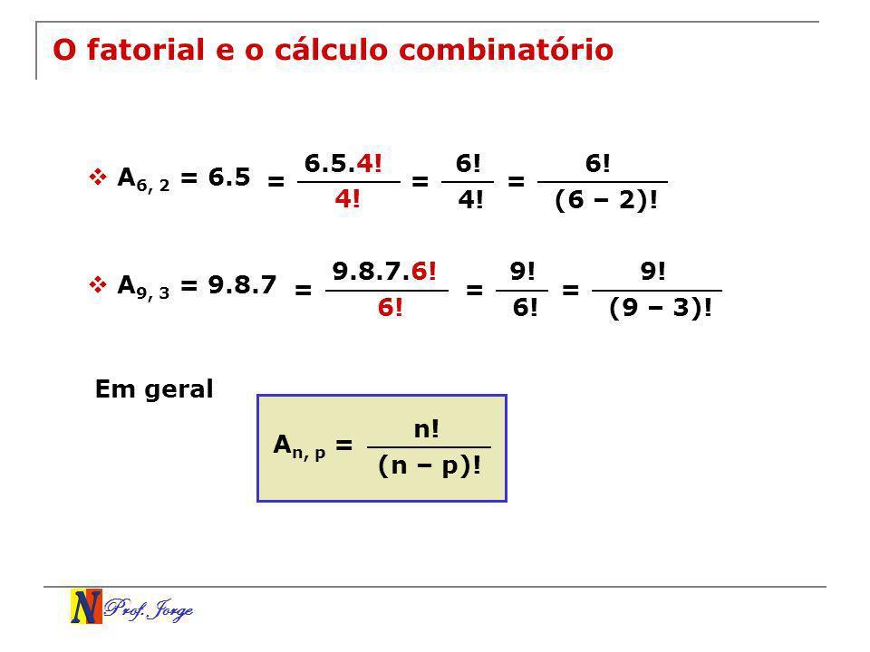 O fatorial e o cálculo combinatório