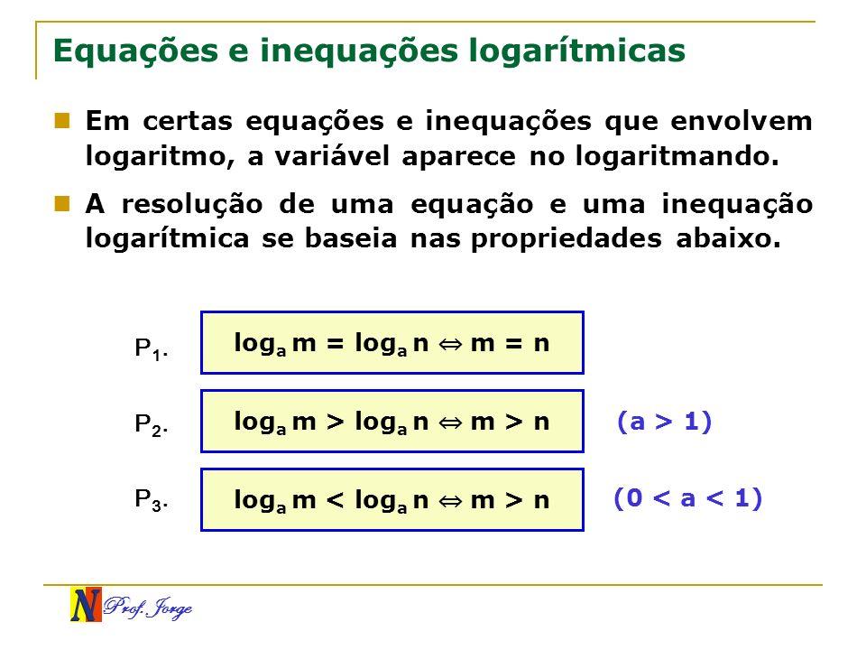 Equações e inequações logarítmicas