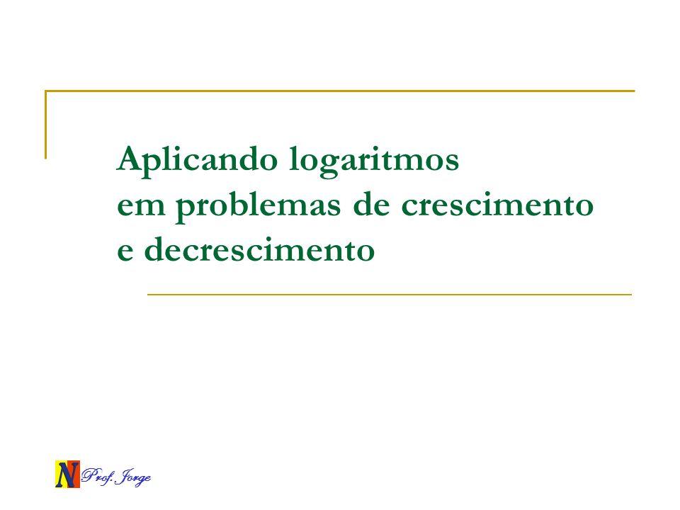 Aplicando logaritmos em problemas de crescimento e decrescimento