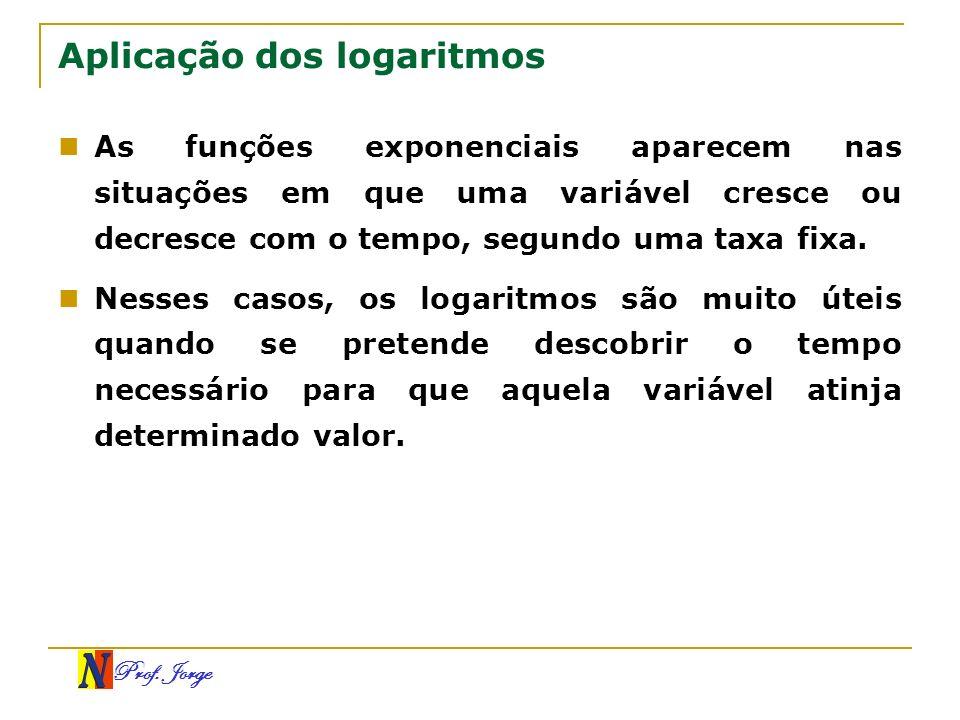 Aplicação dos logaritmos