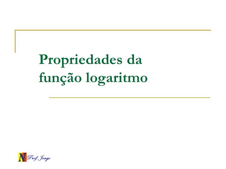 Propriedades da função logaritmo