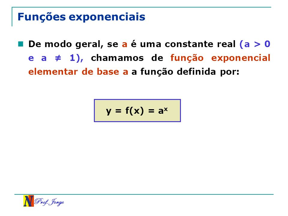 Funções exponenciais