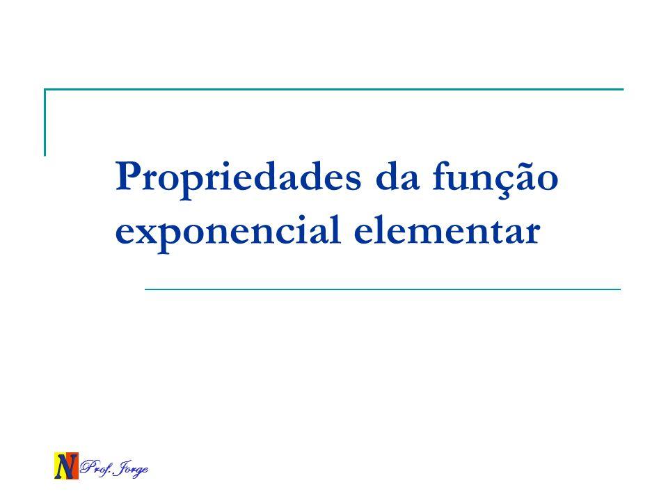 Propriedades da função exponencial elementar