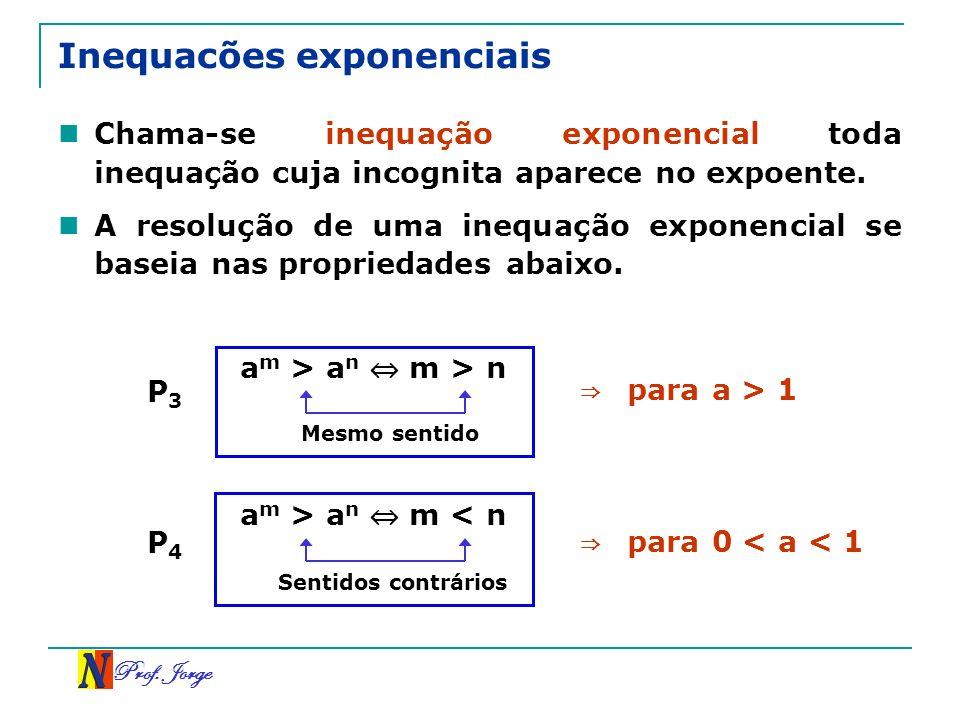 Inequacões exponenciais