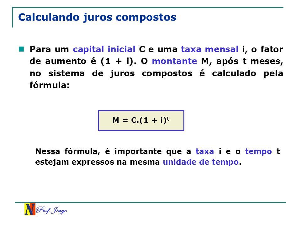 Calculando juros compostos