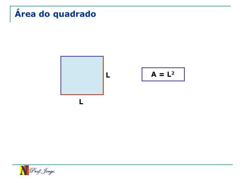 Área do quadrado A = L2 L L Prof. Jorge