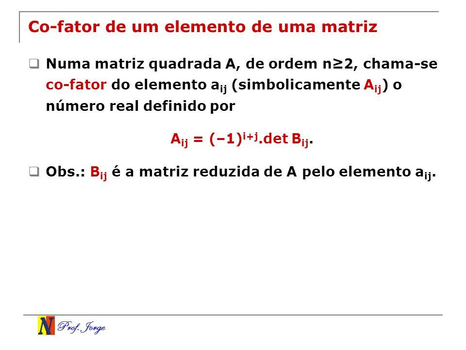 Co-fator de um elemento de uma matriz