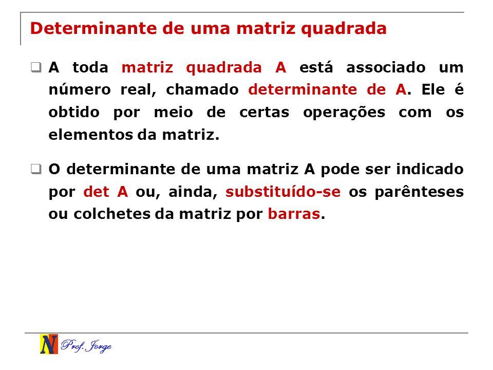 Determinante de uma matriz quadrada