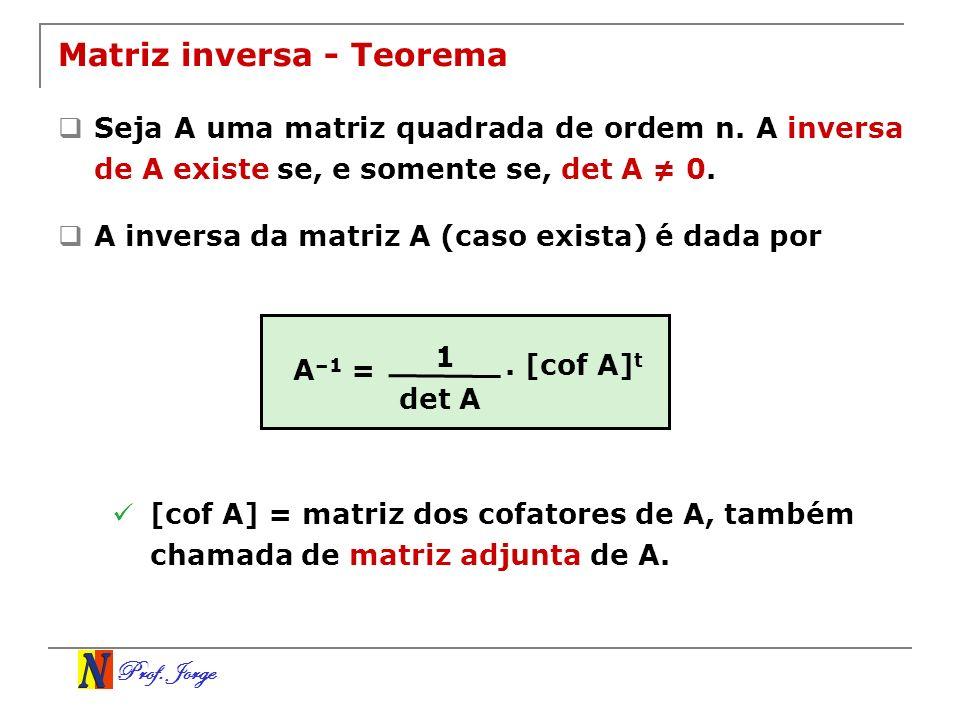 Matriz inversa - Teorema