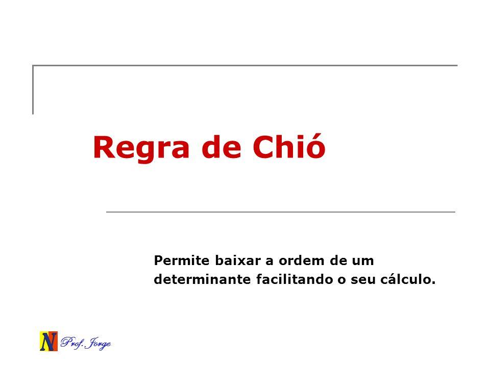 Permite baixar a ordem de um determinante facilitando o seu cálculo.