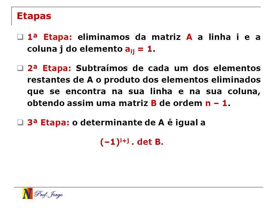 Etapas 1ª Etapa: eliminamos da matriz A a linha i e a coluna j do elemento aij = 1.